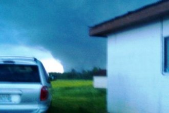 The tornado 2 minutes before hitting Clifton Corners.