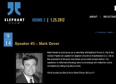 Post image for Did Mark Dever Withdraw from Elephant Room 2?