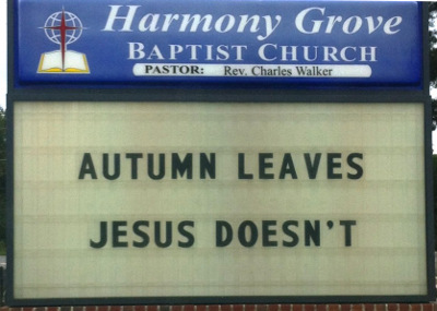 Post image for Friday Church Sign Fun