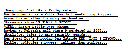 Post image for Black Friday: Depravity on Display