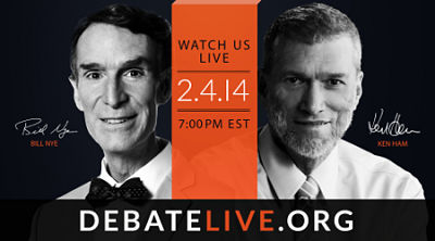 Post image for Free Live Debate: Bill Nye Vs. Ken Ham